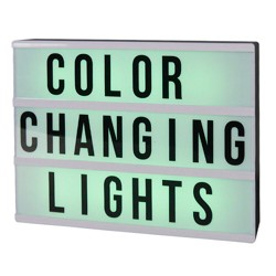 DIY Color Changing Lightbox Novelty LED Table Lamp Black - Room Essentials™