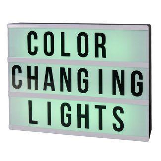 DIY Color Changing Lightbox Novelty LED Table Lamp Black - Room Essentials™