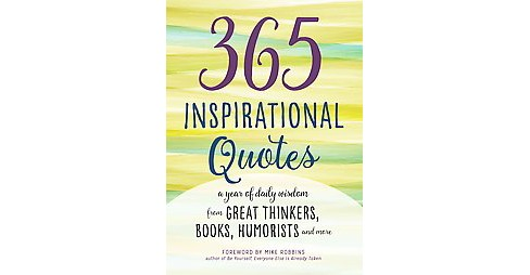 365 Inspirational Quotes ( Inspirational Books) (Paperback) - image 1 of 1