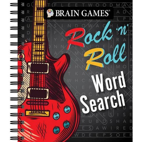 Rock And Roll Games >> Brain Games Rock N Roll Word Search Spiral Bound
