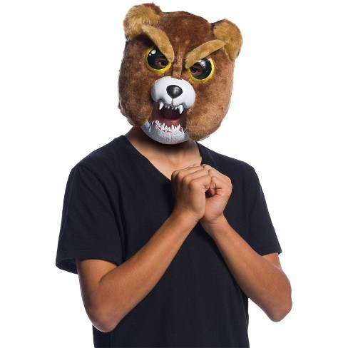 Men's Feisty Pets Sir-Growls-A-Lot Movable Jaw Halloween Costume Mask Rubies - image 1 of 1