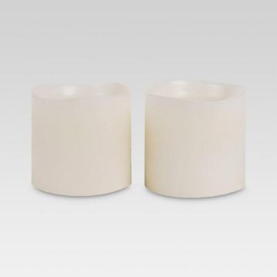 2pk LED Pillar Candle Ivory 3 x3  - Threshold™