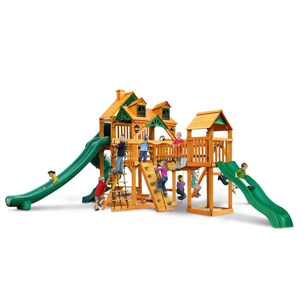 Gorilla Playsets Malibu Treasure Trove II Swing Set with Amber, Multi-Colored