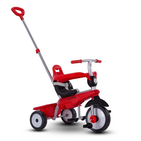 smarTrike Breeze Kids 3 in 1 Tricycle Push Bike, Adjustable Trike Ride On Toy for Baby, Toddler, and Infant Ages 15 Months to 3 Years, Red - image 1 of 4