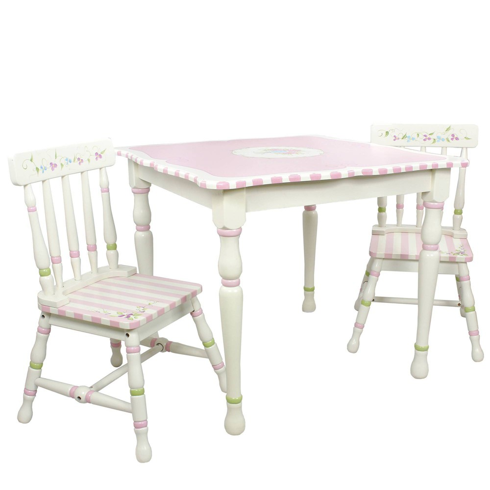 Image of Bouquet Fantasy Fields Table & Chairs Set - Teamson Kids