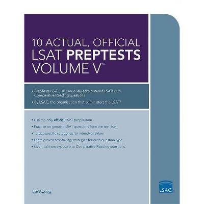 10 Actual, Official LSAT Preptests Volume V - (Paperback)