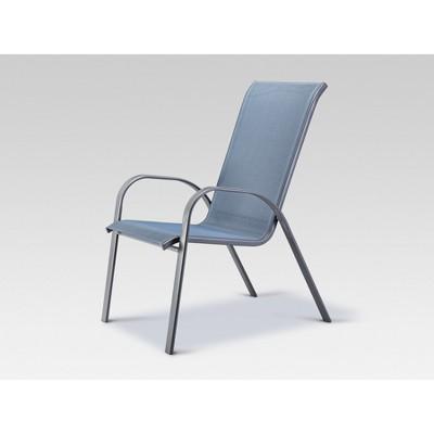 stack sling patio chair blue threshold target rh target com