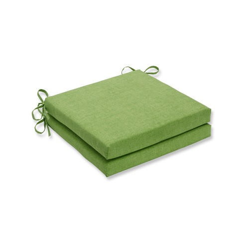 Baja 2pc Indoor/Outdoor Squared Corners Seat Cushion - Linen Lime - Pillow Perfect - image 1 of 1