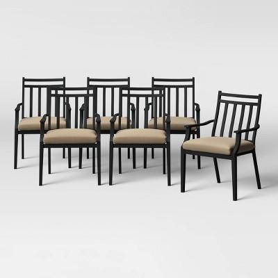 Fairmont 6pk Metal Patio Dining Chair - Tan - Threshold™