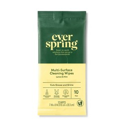 Lemon & Mint Multi-Surface Cleaning Wipes - 10ct - Everspring™