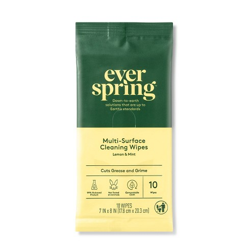 Lemon & Mint Multi-Surface Cleaning Wipes - 10ct - Everspring™ - image 1 of 1