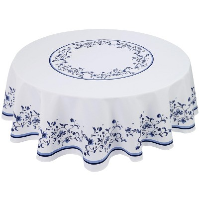 """Avanti Blue Portofino 70"""" Round Tablecloth - Multicolored"""