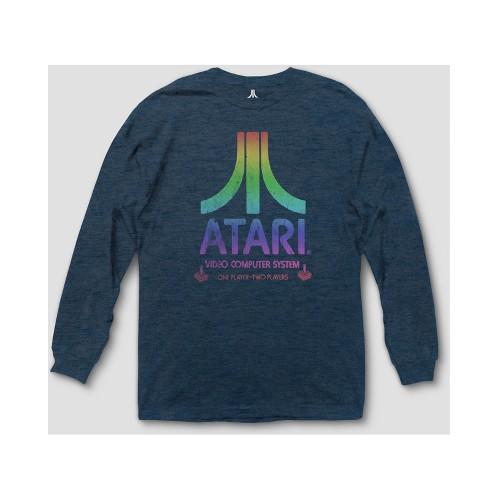 4c23893a5f Men s Atari Long Sleeve T-Shirt - Heather Blue   Target