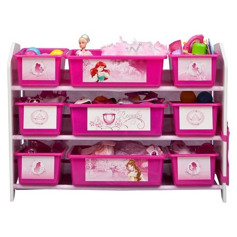 9 Bin Plastic Toy Organizer Disney Princess Delta Children Target
