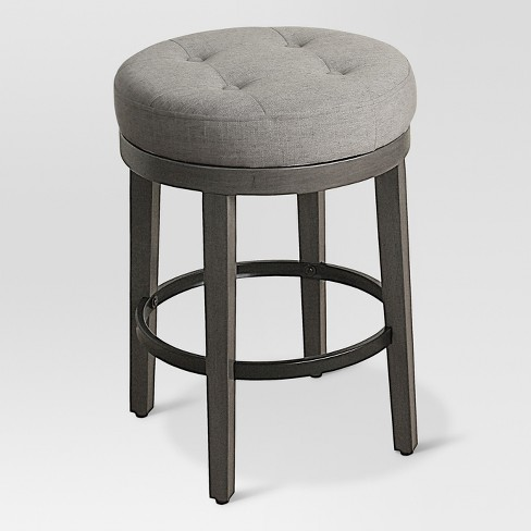 Tufted Swivel 24 Counter Stool Gray Threshold Target