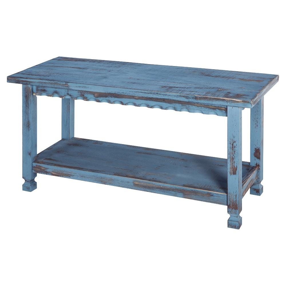 "Image of ""36"""" Bench Hardwood Blue - Alaterre Furniture"""