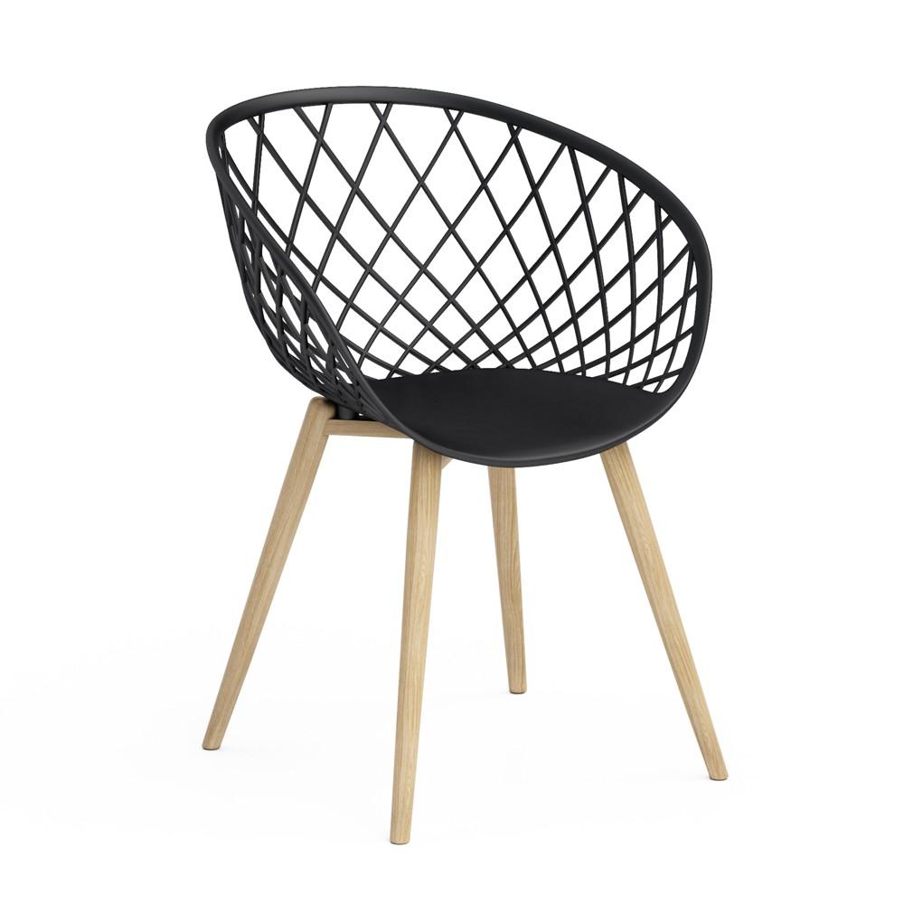 Image of Set of 2 Kurv Chair Black - Jamesdar