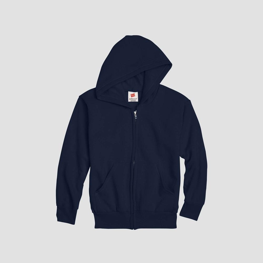 Hanes Kids 39 Comfort Blend Eco Smart Full Zip Hoodie Sweatshirt Navy L