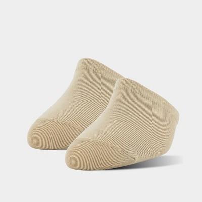 Peds Women's Grippers Tactel Nylon 2pk Liner Muel Socks - Nude One Size
