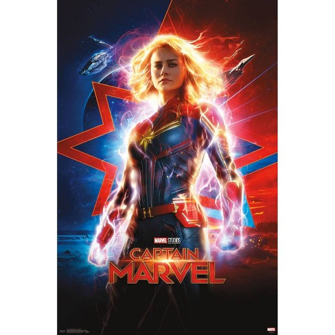 "34""x23"" Captain Marvel One Sheet Unframed Wall Poster Print - Trends International - image 1 of 2"