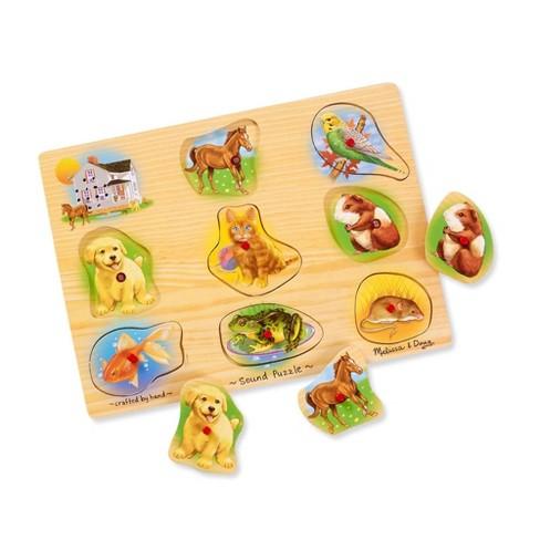 Melissa Doug Assorted Pets Sound Puzzle Set 9pc