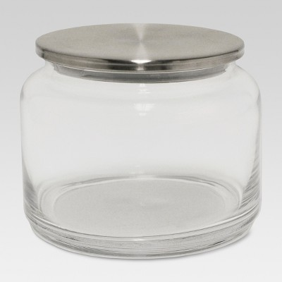 Glass Brushed Canister Silver Small - Threshold™
