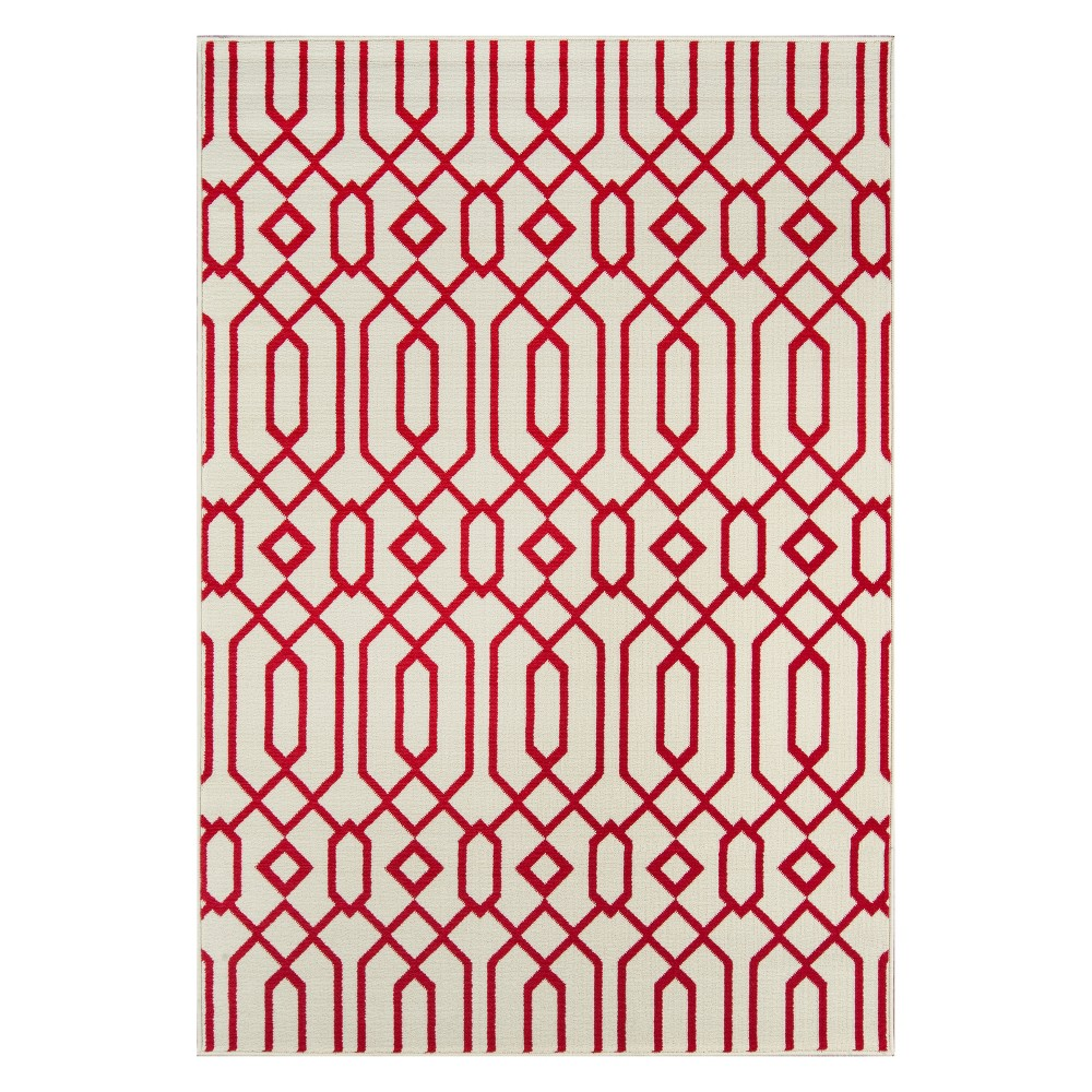Geometric Loomed Accent Rug Ivory