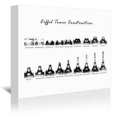 Americanflat Eiffel Tower Construction by Nuada Wrapped Canvas