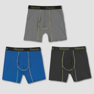 Hanes Men's Comfort Flex Fit Long Leg Boxer Briefs 3pk - Colors May Vary S