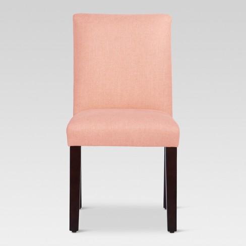 Stupendous Parsons Dining Chair Blush Linen Threshold Ncnpc Chair Design For Home Ncnpcorg