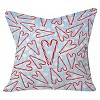 "20""x20"" Holiday Love and Polka Dots Throw Pillow Air Blue - Deny Designs - image 2 of 2"