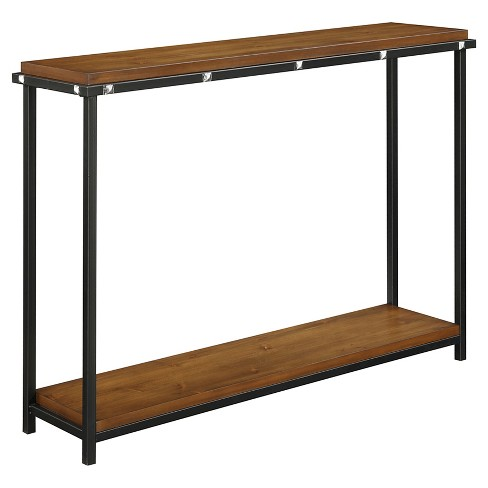 Nordic Console Table - Dark Walnut - Convenience Concepts - image 1 of 4