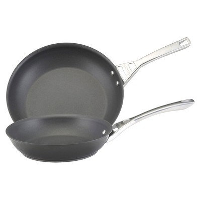 Circulon Infinite 10 and 12 Inch Hard-Anodized Skillets - Black