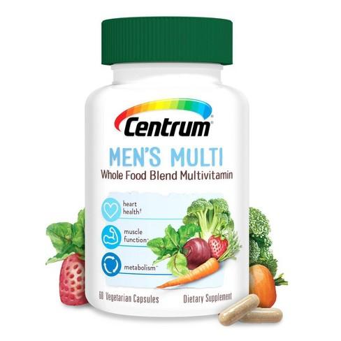 Centrum Whole Food Multivitamin for Men - 60ct - image 1 of 4