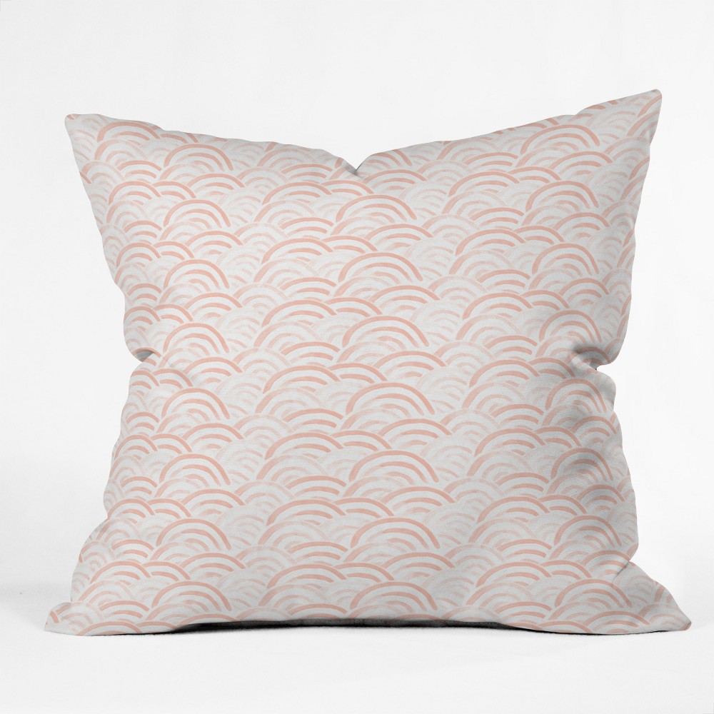 Pink Rainbow Throw Pillow - Deny Designs