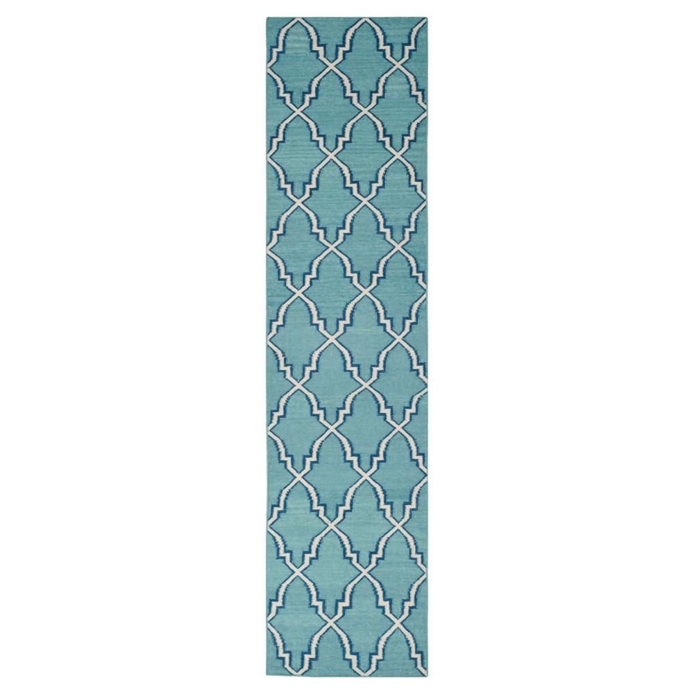 Dakhla Dhurry Rug - Light Blue/Ivory - (2'6x8') - Safavieh