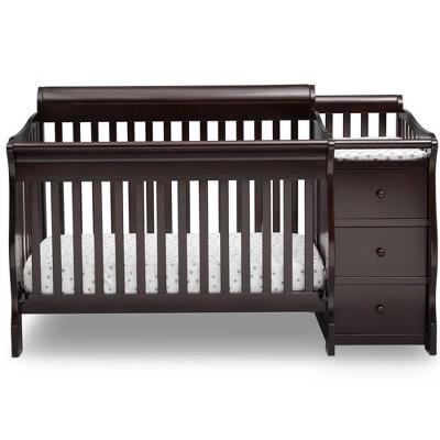 Delta Children Princeton Junction Convertible Baby Crib and Changer - Dark Chocolate