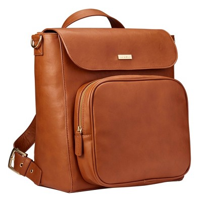 JJ Cole Vegan Leather Brookmont Backpack Diaper Bag - Cognac
