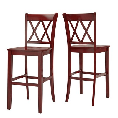 """Set of 2 29"""" South Hill Double X Back Barstools - Inspire Q"""