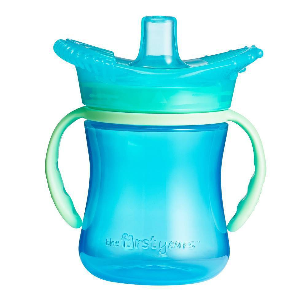 The First Years Teething Soft Spout Trainer Cup Blue