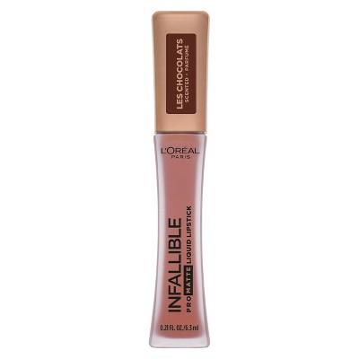 L'Oréal Paris Infallible Pro Matte Les Chocolates Scented Lipstick Dose of Cocoa - 0.21 fl oz