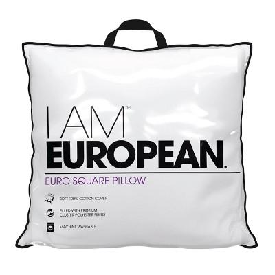 I AM European Euro Square Pillow