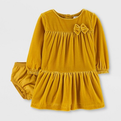 Baby Girls' Holiday Bow Dress - Just One You® made by carter's Yellow 6M