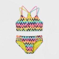 Girls' Rainbow Chevron Bikini Set - art class™