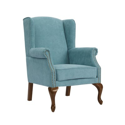 Lorell Wingback Arm Chair - Ocean White - Comfort Pointe