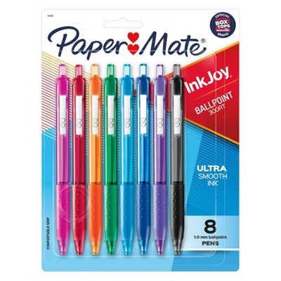 8pk Ballpoint Pens InkJoy 300RT 1.0mm Multicolored - PaperMate