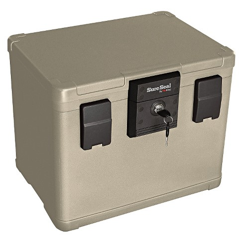 SureSeal By FireKing® Fire and Waterproof Chest, 0.60 ft3, 16w x 12-1/2d x 13h, Taupe - image 1 of 1