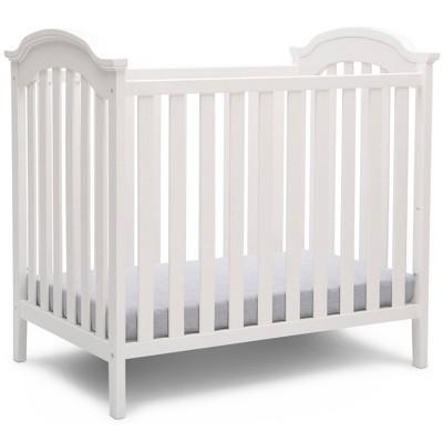 Delta Children Farmhouse Mini Baby Crib with Mattress