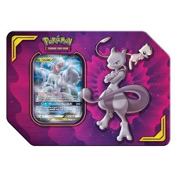 2019 Pokemon Trading Card Game Tag Team Fall Tin featuring Mewtwo & Mew
