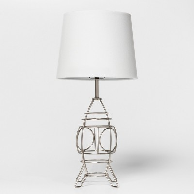 Space Ship Wire Table Lamp Silver Includes Energy Efficient Light Bulb - Pillowfort™